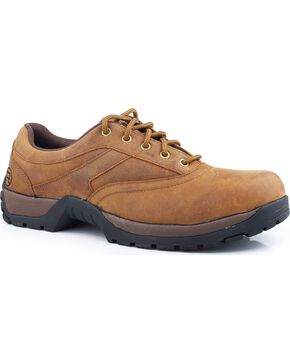Roper Performance Lite Lace-Up Oxford Shoes, Tan, hi-res
