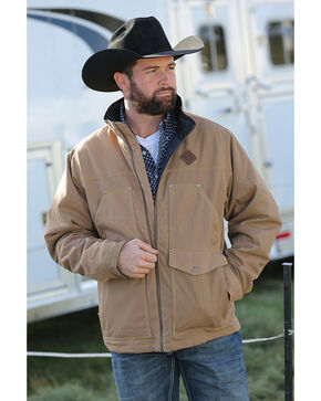 Cinch Men's Tan Canvas Concealed Rancher Jacket , Tan, hi-res