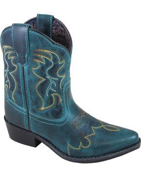Smoky Mountain Girls' Juniper Short Western Boots - Pointed Toe , Black, hi-res
