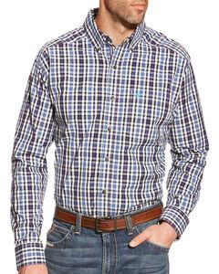 Ariat Men's Blue Plaid Pro Series Jepson Performance Shirt , , hi-res
