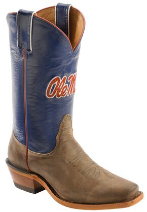 Nocona Women's University of Mississippi College Boots - Snip Toe, Tan, hi-res