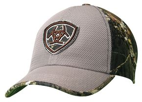 Ariat Camo & Mesh Embroidered Logo Patch Cap, Green, hi-res