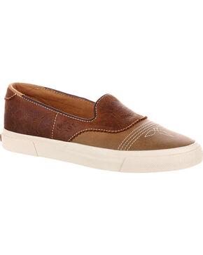 Durango Women's Brown Music City Slip-On Saddle Sneakers , Brown, hi-res