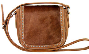 Montana West Trinity Ranch Genuine Cow Hide Saddle Bag, Brown, hi-res