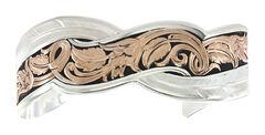 Montana Silversmiths Two Tone Sweeping Cuff Bracelet  , , hi-res