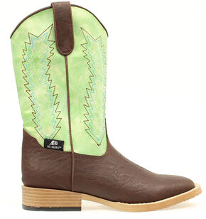 Double Barrel Youth Boys' Wyatt Boots - Square Toe, Brown, hi-res
