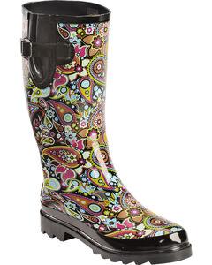 Blazin Roxx Paisley Rain Boots - Round Toe, , hi-res