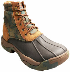 """Twisted X Women's Camo 6"""" Rubber Boots - Round Toe, , hi-res"""
