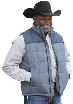 Cinch Men's Blue Polyfill Quilted Vest, , hi-res