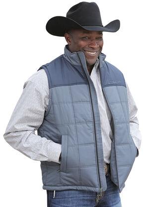 Cinch Men's Blue Polyfill Quilted Vest, Blue, hi-res