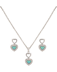 Montana Silversmiths River Lights in Love Jewelry Set, , hi-res