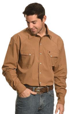 Garth Brooks Sevens by Cinch Beige Stripe Western Shirt , , hi-res