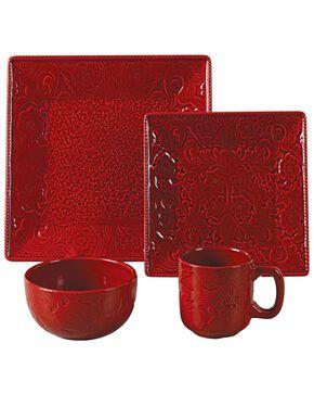 Savannah Red Dinnerware Set, Red, hi-res