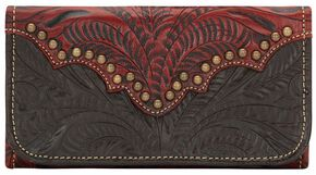 American West Annie's Secret Tri-fold Wallet, Crimson, hi-res