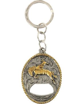 Cody James® Bucking Bronc Bottle Opener Keychain, Multi, hi-res