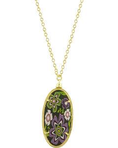 Jilzarah Prairie Gold Frame Pendant Necklace, , hi-res