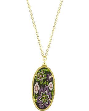 Jilzarah Prairie Gold Frame Pendant Necklace, Prairie, hi-res