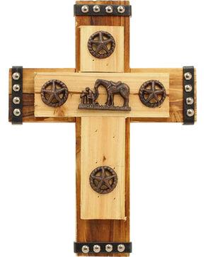 Western Moments Cowboy Prayer Wall Cross, Brown, hi-res