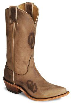 Nocona Oklahoma Sooners College Boots - Snip Toe, , hi-res