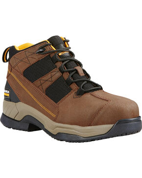 Ariat Men's Contender Work Boots - Steel Toe, Brown, hi-res