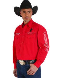 Wrangler Men's Red Pendleton Wester Logo Long Sleeve Shirt - Big and Tall , , hi-res