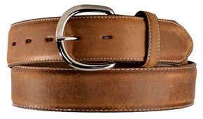Silvercreek Basic Western Leather Belt, Brown, hi-res