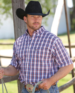 Cinch Men's Multi Woven Tri-Blend Short Sleeve Shirt , Multi, hi-res