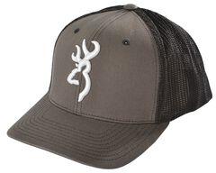 Browning Charcoal Grey Buckmark Flex Fit Cap - S/M, , hi-res