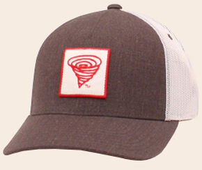 Twister Youth Logo Brown Mesh Back Ball Cap, Grey, hi-res