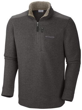 Columbia Men's Terpin Point II Half-Zip Shirt, Brown, hi-res
