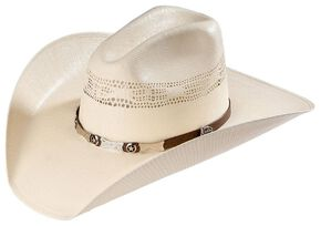 Justin 20X Mesa All Around Straw Cowboy Hat, Natural, hi-res
