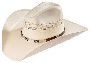 Justin 20X Mesa All Around Straw Cowboy Hat, Natural, hi-res