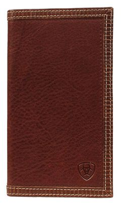 Ariat Brown Leather Rodeo Wallet, , hi-res
