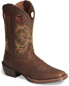 Justin Youth Boys' Junior Stampede Cowboy Boots, , hi-res
