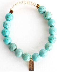 Everlasting Joy Jewelry Women's Turquoise Coconut Bracelet , Turquoise, hi-res