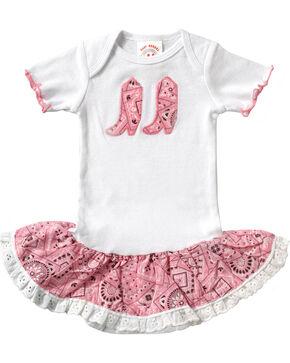 Girls' Bandana Print Infant Dress - 6-24 mos., Pink, hi-res