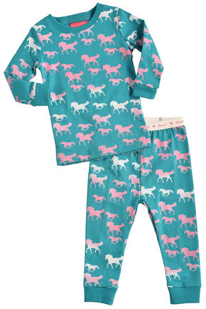 Cowgirl Hardware Infant Girls' Turquoise Horse Print Playset, Turquoise, hi-res