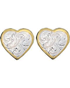 Montana Silversmiths Classic Montana Heart Earrings, , hi-res