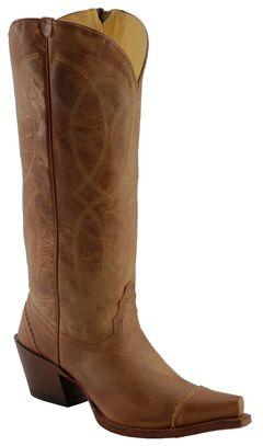 Tony Lama 100% Vaquero Latigo Tucson Zipper Cowgirl Boots - Snip Toe, , hi-res