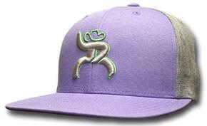 """HOOey Men's Roughy """"Hawk"""" Purple Trucker Hat, Purple, hi-res"""