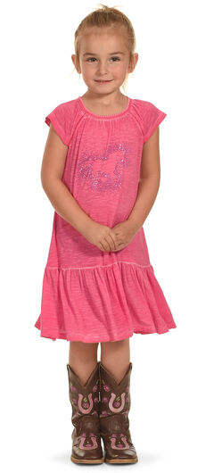 Cowgirl Hardware Toddler Girls' Dip Dyed Sparkle Horse Dress, , hi-res