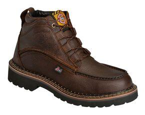 "Justin Rustic Cowhide Chukka 6"" Boots - Steel Toe, Brown, hi-res"