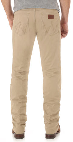 Wrangler Retro® Men's Light Brown Slim Straight Jeans - Long, , hi-res