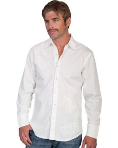 Scully Tonal Front Embroidered Western Shirt, , hi-res