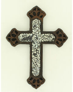 Western Moments Cast Iron Clear Glass Wall Cross, , hi-res