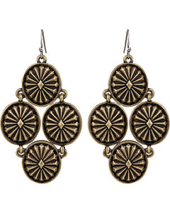 Wrangler Rock 47 Points of Aztec Starburst Cluster Earrings, , hi-res