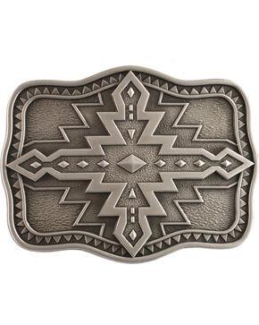 Nocona Aztec Buckle, Silver, hi-res