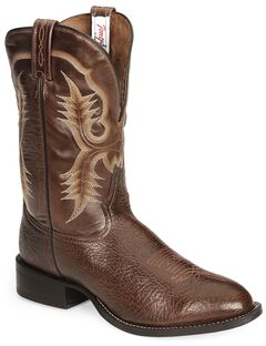 Tony Lama Chocolate Stockman Cowboy Boots - Round Toe, , hi-res