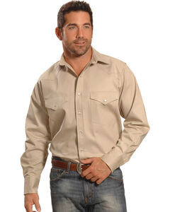 Crazy Cowboy Men's Stone Western Work Shirt , , hi-res