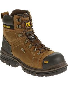 """Caterpillar Men's Hauler 6"""" Waterproof Work Boots - Composite Toe, , hi-res"""